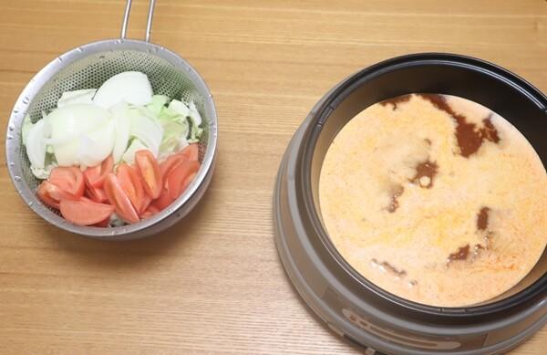 野菜とビスク鍋